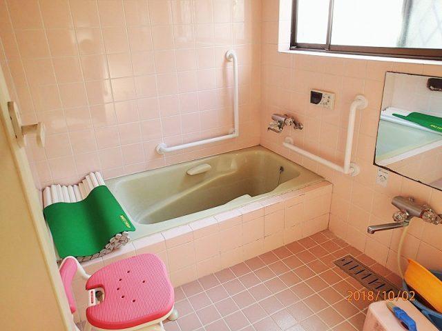 風呂場 手すり設置|リフォーム