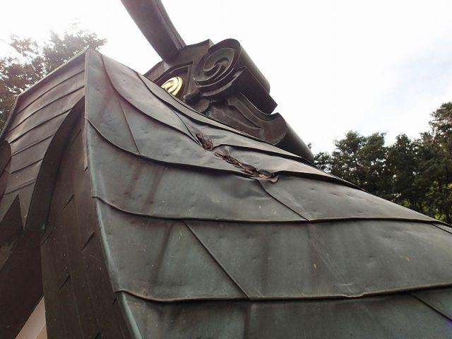神社屋根穴|リフォーム