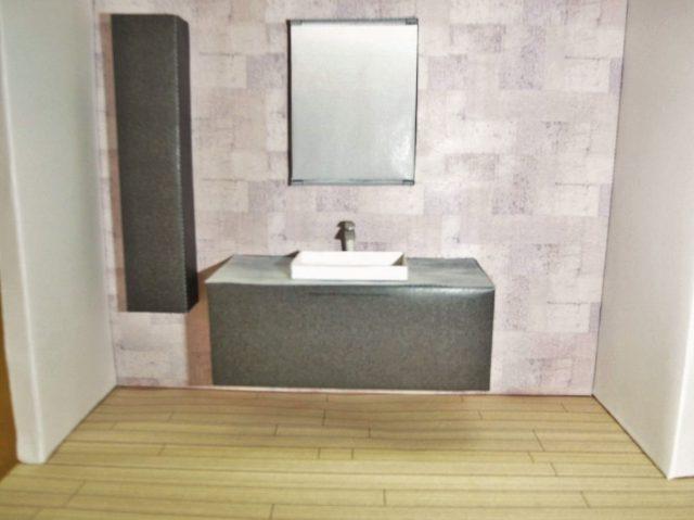 エスクア洗面台模型|リフォーム