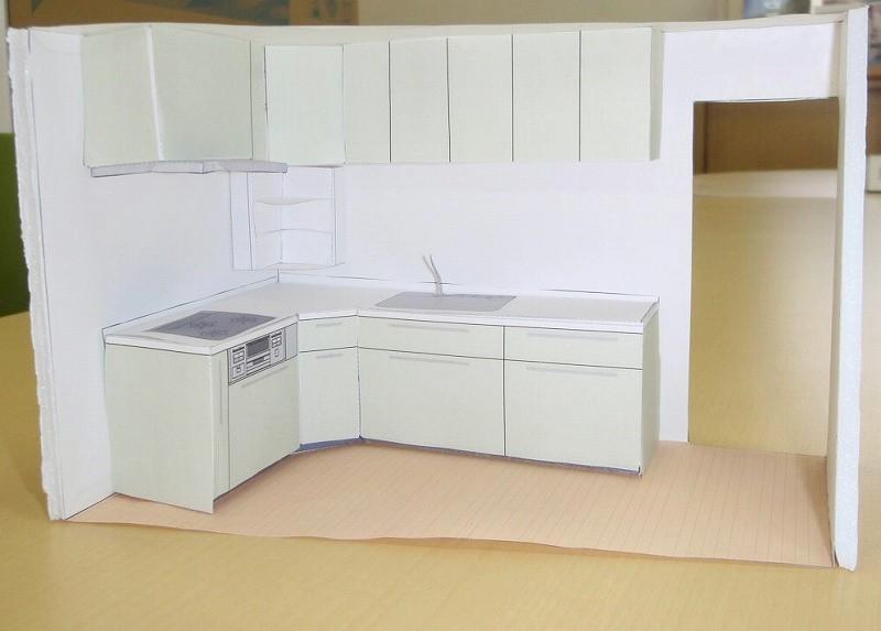 キッチン模型 リフォーム